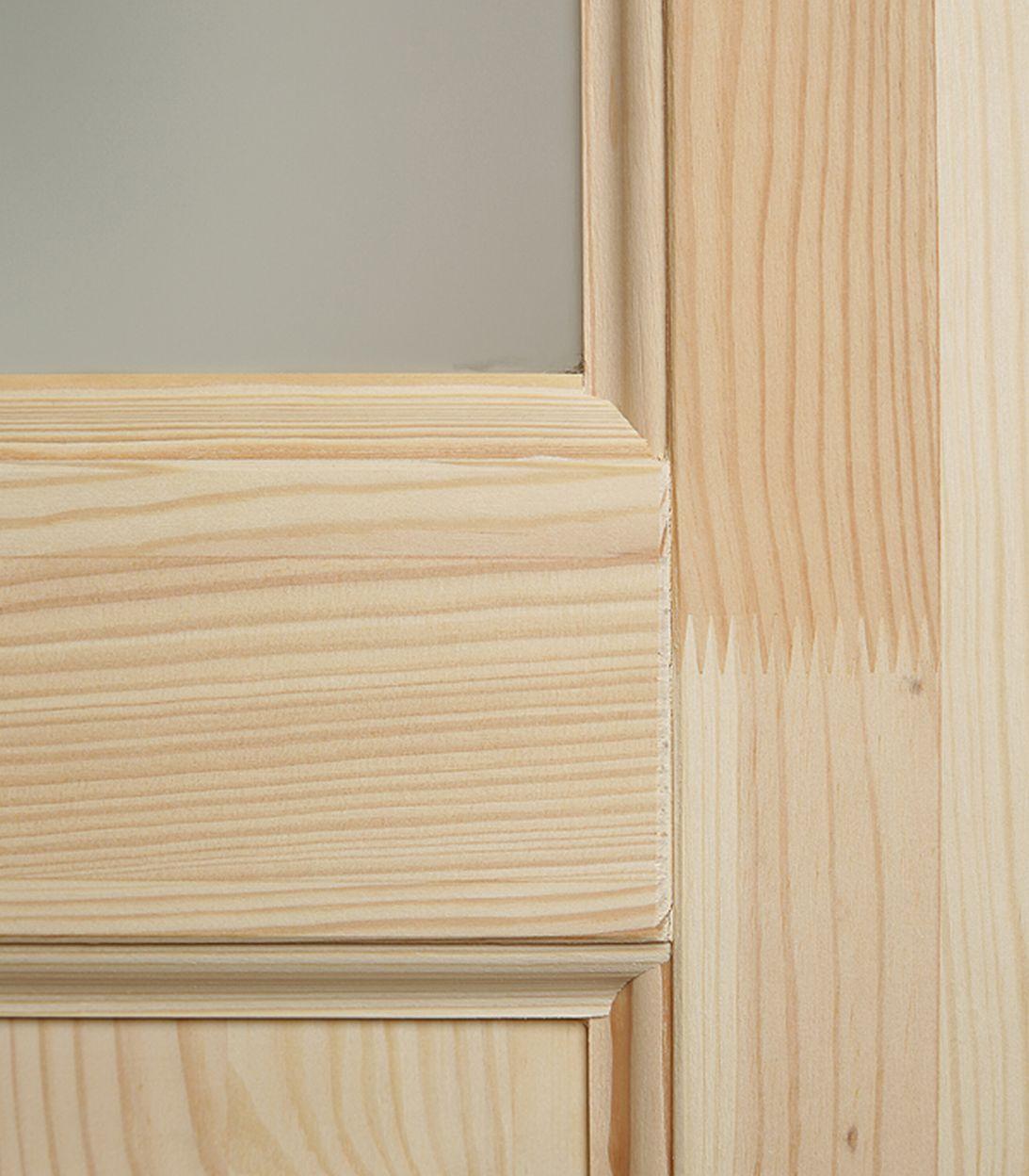 Дверное полотно РЖЕВДОРС 4310 Сатинато со стеклом массив без покрытия 600x2000 мм фото
