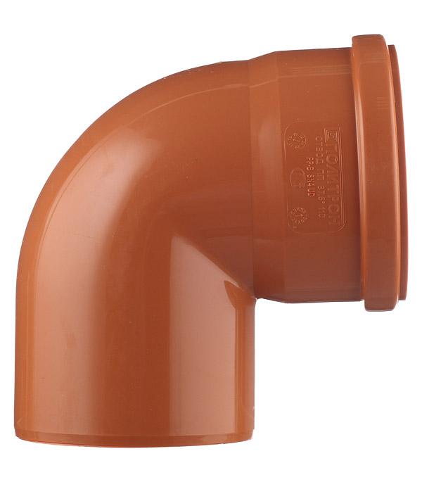 Отвод d110 мм 87° пластиковый для наружной