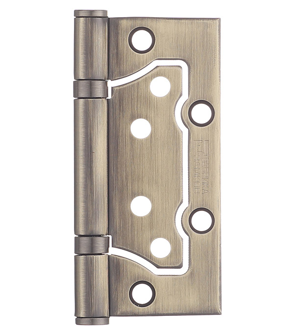Петля ФЗ E-2BB-100 AB бабочка универсальная неразъемная 100х75 мм бронза петля дверная palladium 2вв 100 универсальная 2 подшипника цвет античная бронза длина 10 см