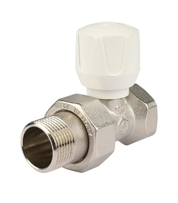 Клапан (вентиль) регулирующий ручной прямой Stout (SVR 2122 000020) 3/4 НР(ш) х 3/4 ВР(г) для радиатора клапан вентиль запорный прямой tiemme 3 4 нр ш х 3 4 вр г для радиатора