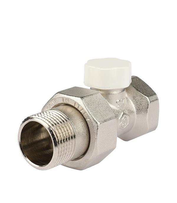 Клапан (вентиль) запорный прямой Stout (SVL 1176 000020) 3/4 НР(ш) х 3/4 ВР(г) для радиатора
