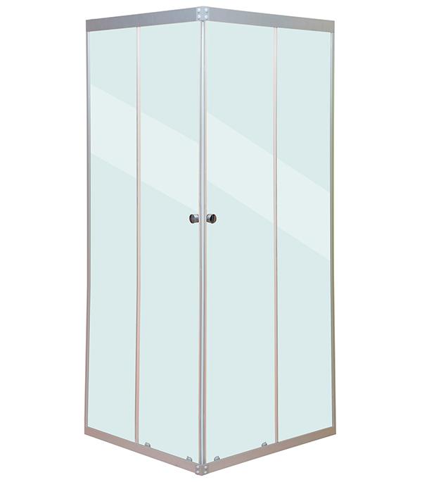 Душевое ограждение MITTE квадрат 90х90х177см стекло прозрачное 4мм профиль хром без поддона цена и фото