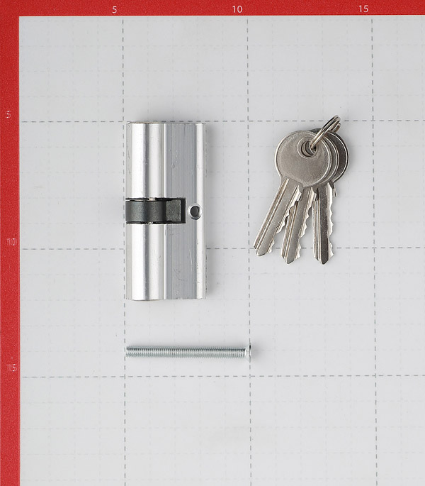 Цилиндр ФЗ E AL 70 CP 70 (35х35) мм ключ/ключ хром