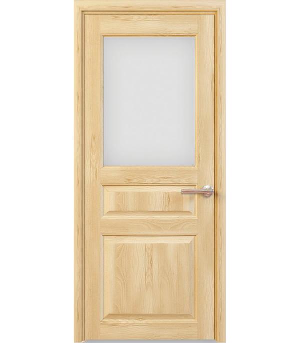 Дверное полотно РЖЕВДОРС 4310 Сатинато со стеклом массив без покрытия 900x2000 мм