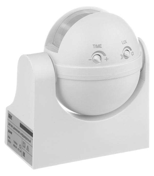 Датчик движения потолочный/настенный IEK ДД 009 1100 Вт IP44 180 градусов