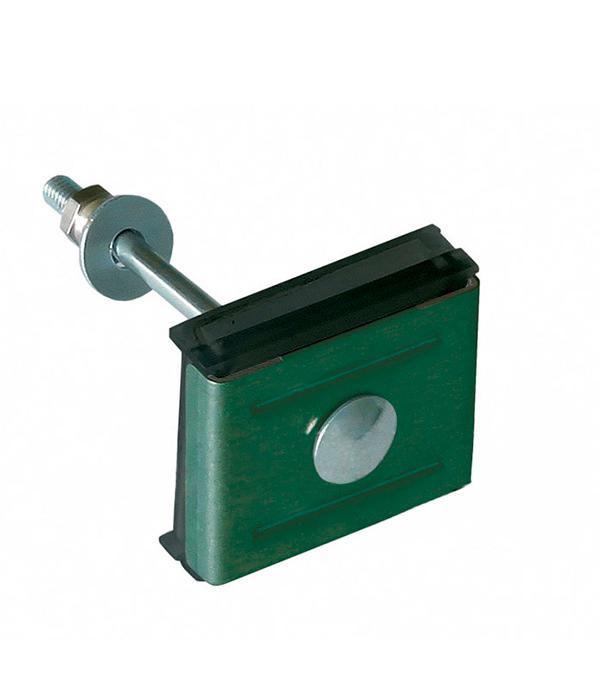 Купить Крепление сетки/секции заборной к столбам 62х55 мм зелёный RAL 6005, Зеленый, Сталь