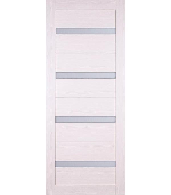 Дверное полотно Принцип ЛАЙТ 24 лиственница белая со стеклом экошпон 700x2000 мм ручка защелка punto 6020 mab p