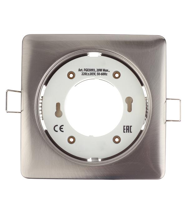 Светильник встраиваемый Sholtz GX53 d115 мм 220 В круглый IP20 сатин/хром