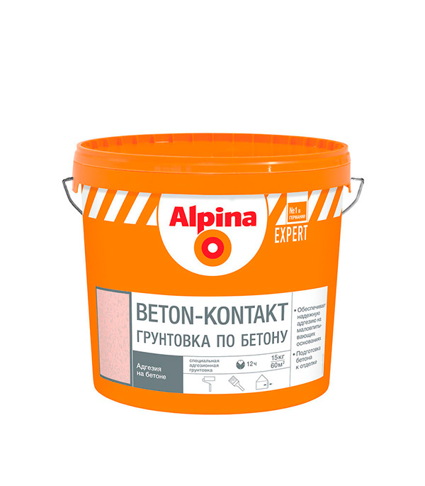 Грунт бетоноконтакт Alpina Expert по бетону 15 кг