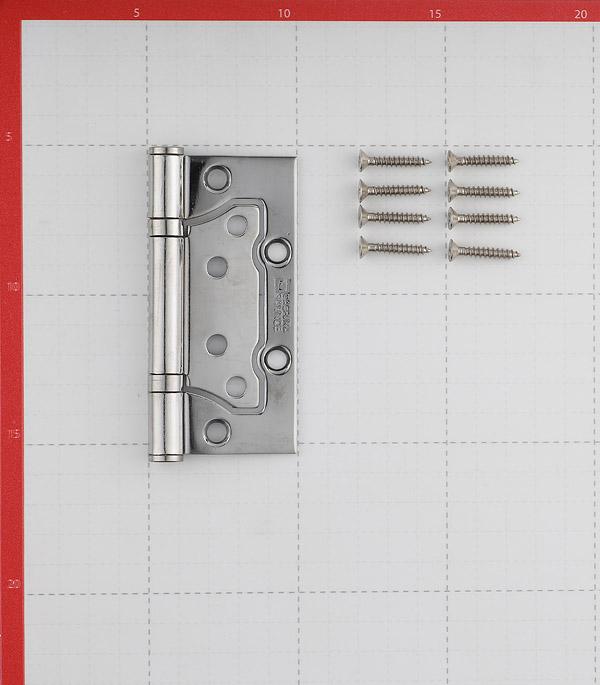 Петля ФЗ E-2BB-100 CP бабочка универсальная неразъемная 100х75 мм хром