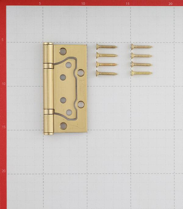 Петля ФЗ E-2BB-100 SB бабочка универсальная неразъемная 100х75 мм латунь
