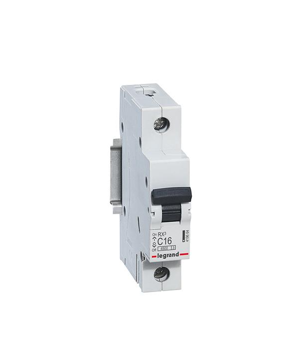 Автомат Legrand RX3 (419664) 1P 16 А тип C 4,5 кА 230 В на DIN-рейку автомат legrand rx3 419669 1p 50 а тип c 4 5 ка 230 в на din рейку