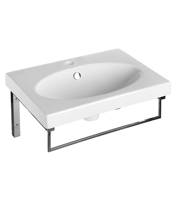 Раковина SANITA LUXE Next 60 Eggo 600 мм на кронштейнах с полотенцедержателем раковина мебельная sanita luxe next 60 для мебели 23396 next 60