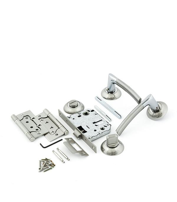 Комплект фурнитуры для двери ФЗ FZ SET 01-C 170 2H BK SN (матовый никель)
