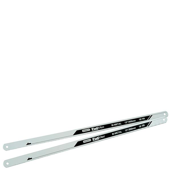 Полотно по металлу Stanley Fatmax биметаллическое 300 мм 18 зуб/дюйм (2 шт) цена 2017