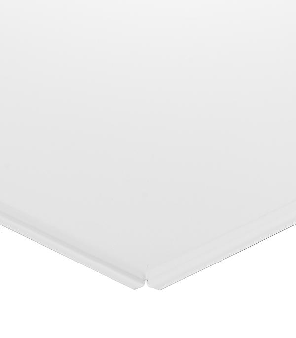 Плита к подвесному потолку кассетная алюминиевая 600х600 мм Албес Tegular Стандарт белая