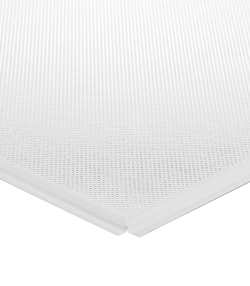 Фото «Плита к подвесному потолку кассетная алюминиевая 600х600 мм Албес Tegular.Стандарт белая перфорирированная» в г.