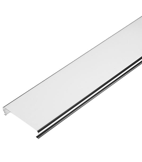 Фото - Рейка сплошная Омега А 4 м 100АТ серебристый металлик рейка сплошная омега а 3 м 100ат эконом белая