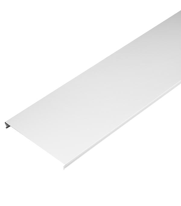 Рейка сплошная S-дизайн 3 м 150АS белая матовая