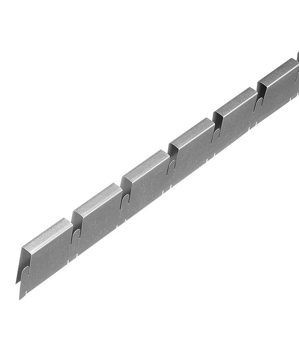 Элемент решетки серый металлик «папа» 10х40х600 мм Грильято ячейка 50х50 мм