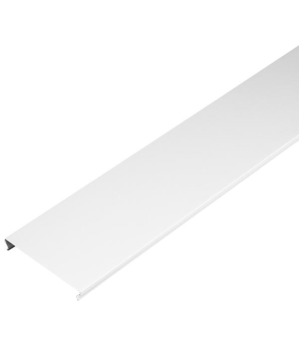 Фото - Рейка сплошная S-дизайн 3 м 100АS белый жемчуг рейка сплошная омега а 3 м 100ат эконом белая