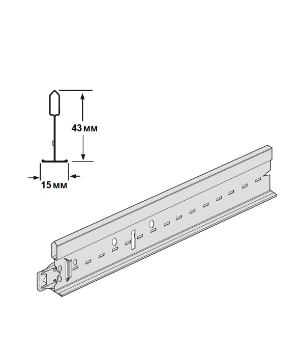 Профиль к подвесному потолку Prelude 3,6 м Т-15 цена