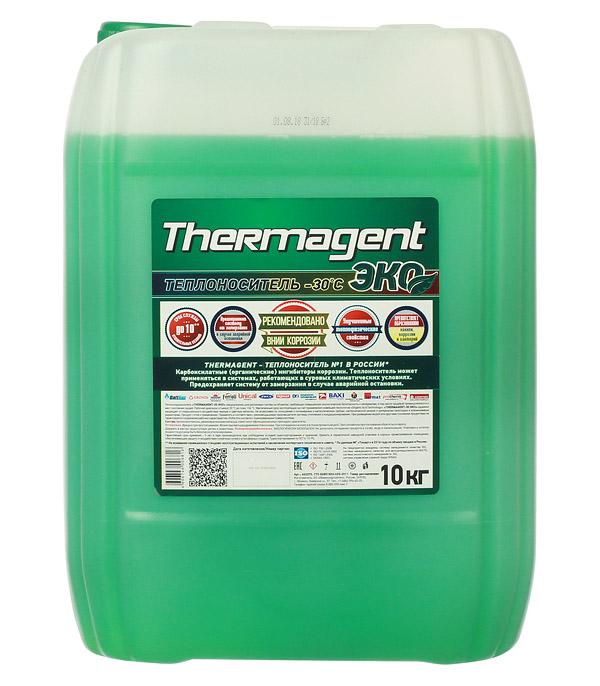 Теплоноситель Thermagent Eko -30°С 10 кг, ЭКО 9,6 л теплоноситель обнинскоргсинтез для систем отопления thermagent технология уюта 65 10кг
