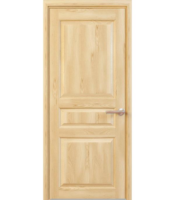 Дверное полотно РЖЕВДОРС 4310 глухое массив без покрытия 900x2000 мм ручка защелка punto 6020 mab p