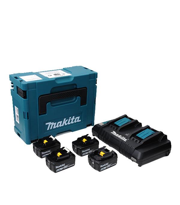Аккумулятор Makita 198312-4 18В 5Ач Li-Ion с зарядным устройством в комплекте (4 шт.) фото