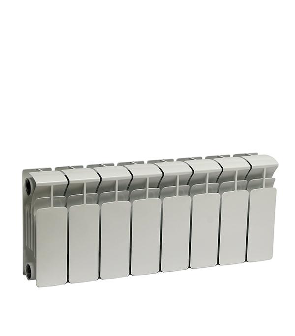 Радиатор биметаллический Rifar Base 200 мм 8 секций 1 боковое подключение белый биметаллический радиатор rifar рифар b 500 нп 10 сек лев кол во секций 10 мощность вт 2040 подключение левое