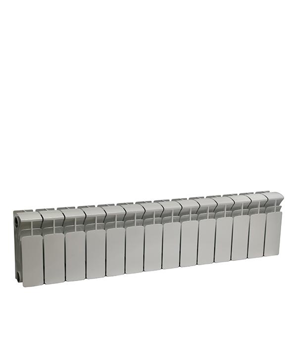Радиатор биметаллический Rifar Base 200 мм 14 секций 1 боковое подключение белый биметаллический радиатор rifar рифар b 500 нп 10 сек лев кол во секций 10 мощность вт 2040 подключение левое