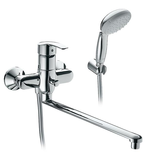 Смеситель для ванной и душа GROHE MULTIFORM 3270800A с длинным изливом однорычажный с лейкой grohe multiform 32708000 универсальный