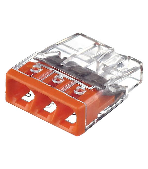 Клемма на 3 провода Wago 2273-203 0,5-2,5 кв. мм без пасты (100 шт.)