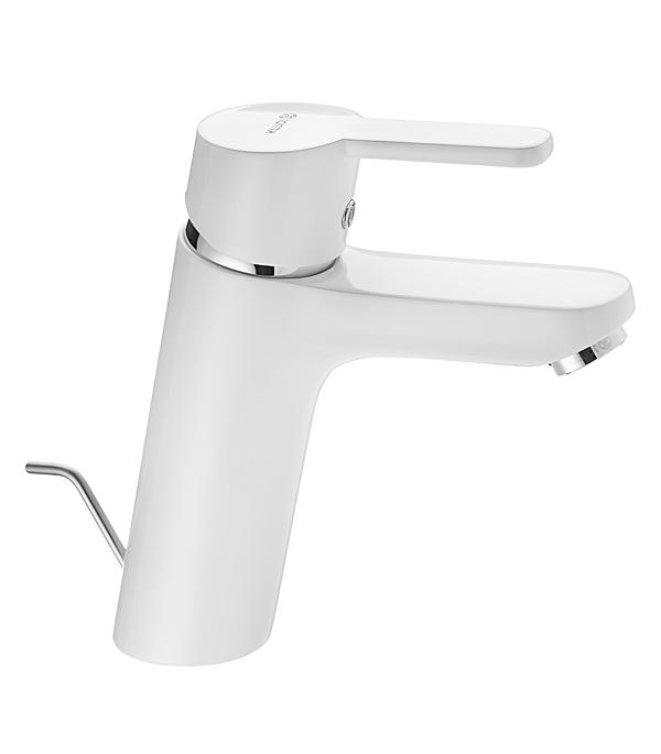 Смеситель для умывальника KLUDI LOGO NEO XL 372909175 однорычажный с донным клапаном белый комплект для умывальника kabulading