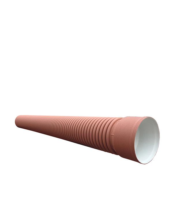 Фото - Труба двустенная гофрированная ПНД d400/348 мм 6 м SN8 с раструбом труба джилекс пнд ре100 32х2 4 мм 12 5 атм 50 м