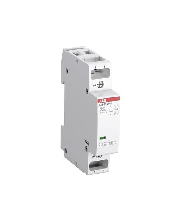 Контактор модульный ABB ESB (1SBE121111R0611) 230 В 20 А тип AC/DС 1НО+1НЗ контактор esb 20 11 ac abb ghe3211302r0006