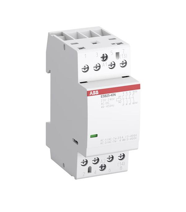 Контактор модульный ABB ESB (1SAE231111R0622) 230 В 25 А тип AC/DС 2НО+2НЗ контактор esb 20 11 ac abb ghe3211302r0006
