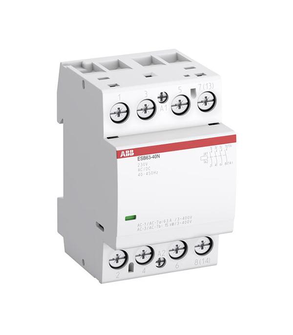 Контактор модульный ABB 63А ESB контактор модульный 20а abb esb