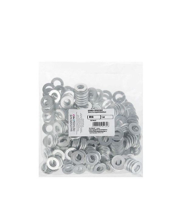 Шайба оцинкованная 10x20 мм DIN 125 (1 кг) цена