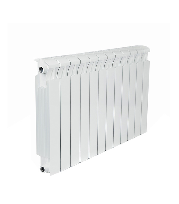 Радиатор биметаллический Rifar Monolit Ventil MVR 500 мм 12 секций 3/4 нижнее правое подключение белый биметаллический радиатор rifar рифар b 500 нп 10 сек лев кол во секций 10 мощность вт 2040 подключение левое