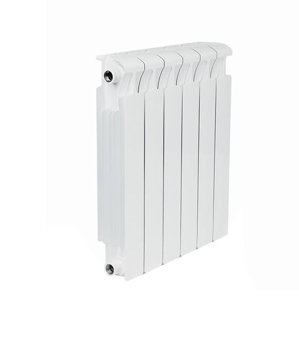 Радиатор биметаллический Rifar Monolit Ventil MVR 500 мм 6 секций 3/4 нижнее правое подключение белый биметаллический радиатор rifar рифар b 500 нп 10 сек лев кол во секций 10 мощность вт 2040 подключение левое