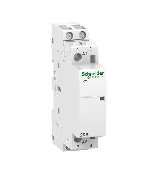Контактор модульный Schneider Electric Acti 9 iCT (A9C22722) 220 В 20 А тип AC 2P клеммы тунельного типа