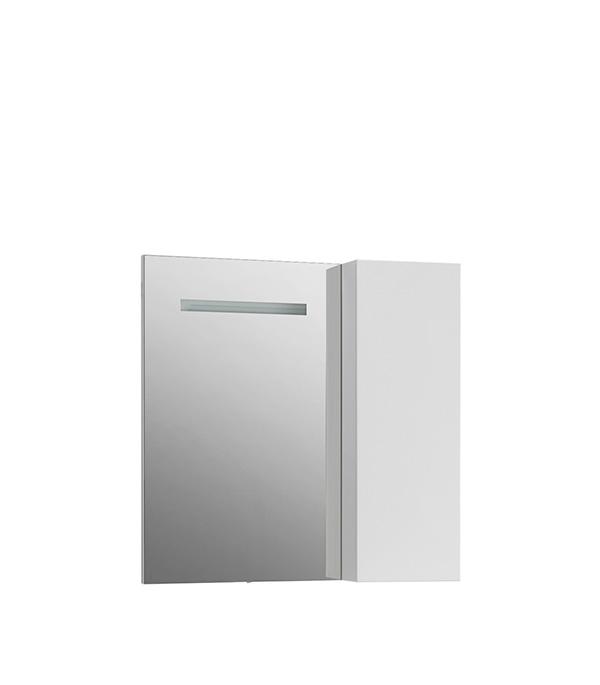 Зеркальный шкаф BELUX Япония 800 мм угловой правый с подсветкой  белый belux шкаф пенал belux бриз 30 белый l