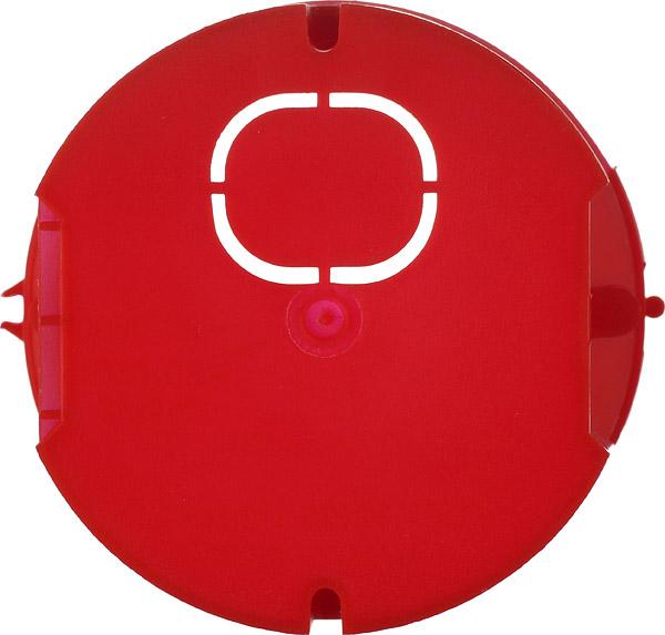 Подрозетник Промрукав для бетона d68х42 мм 7 вводов красный IP20 с винтами безгалогенный