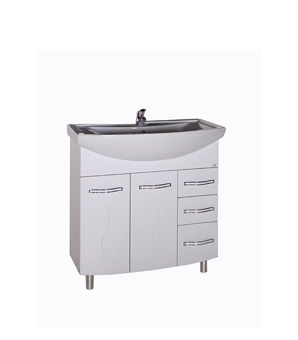 Тумба под раковину АСБ-Мебель Грета 800 мм напольная белая мебель для ванной эстет dallas luxe r 120 напольный два ящика белый