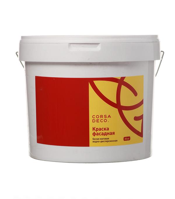 Краска водно-дисперсионная фасадная Corsa Deco 25 кг краска водно дисперсионная боларс латексная фасадная цвет белый 7 кг