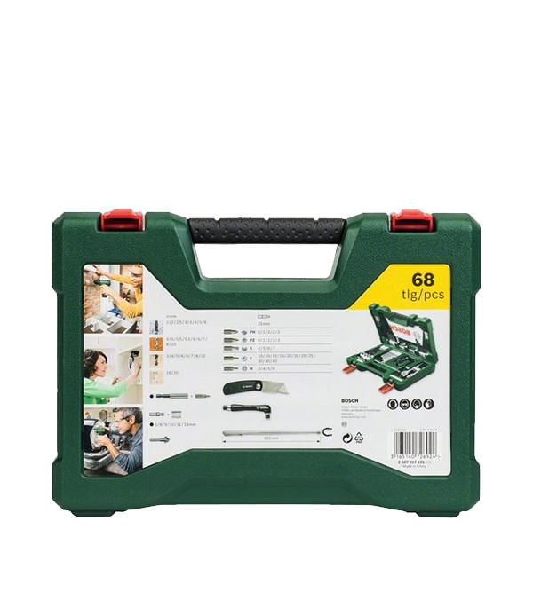 Набор оснастки Bosch V-line (2607017191) 68 предметов qualitypark 37863 clasp envelope 6 1 2 x 9 1 2 28lb brown kraft 100 box