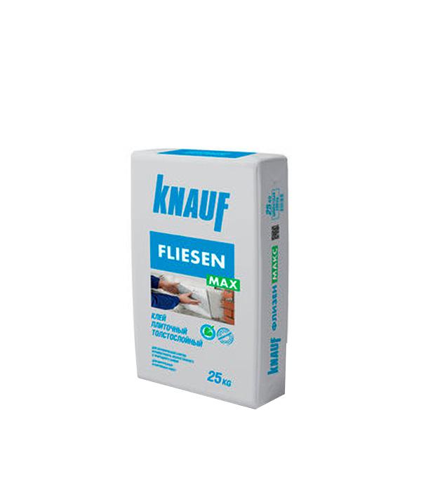 Клей для плитки и керамогранита Флизен Макс Knauf толстослойный 25 кг