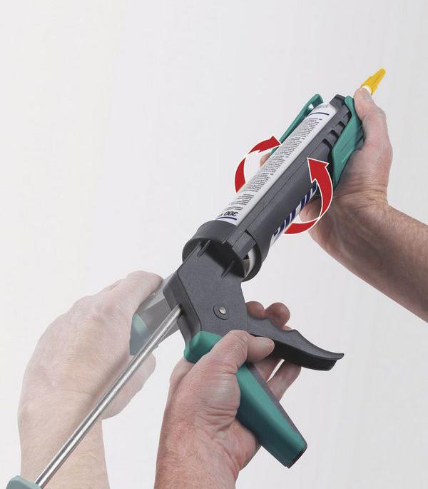 Пистолет для герметика пластиковый с поворотным корпусом Wolfcraft (4352000).