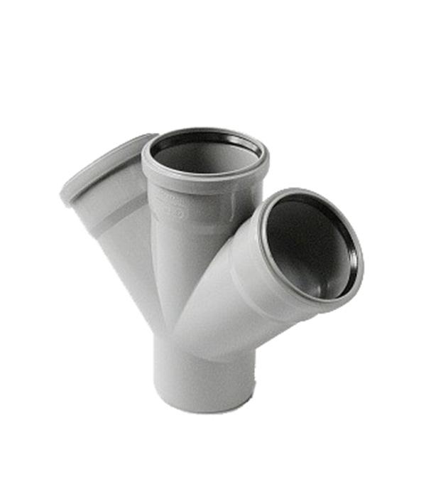 Крестовина Polytron Comfort d50х50х50 мм 45° пластиковая